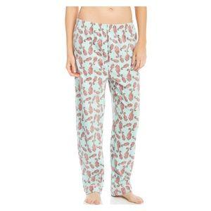 LEVERET Aqua Pink Seahorse Fleece Pajama Pants NWT